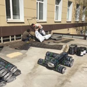 Ремонт мягкой кровли здания ЗАО НПО «Экономика».