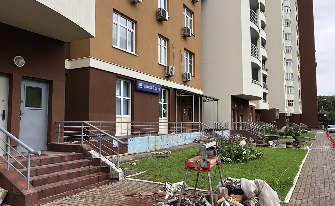 Капитальный ремонт входных групп в ТСЖ «Приват Сквер»